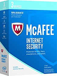 McAfee 2017 Internet Security-3 Devices [Key Code] (3-Users)