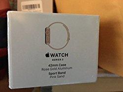 Apple – Apple Watch Series 2 42mm Rose Gold Aluminum Case Pink Sand Sport Band – Rose Gold Aluminum MQ142LL/A