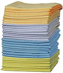 Best Microfiber Cleaning Cloth, Pack of 32