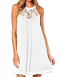 DREAGAL Women's Floral Lace Cocktail Evening Party Dress White Small