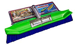 SweepEase 18″ 100% Poly Aqua-Dynamic Pool Brush, Green, Small