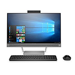 HP Pavilion All-in-One Computer, Intel i5-7400T, 8GB RAM, 1TB hard drive, Windows 10 (24-a210, Silver)