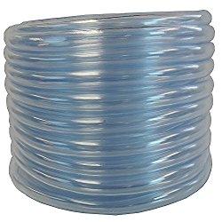 (1″ ID x 1 1/4″ OD x 50 ft) HydroMaxx Flexible Non-Toxic, BPA Free Clear Vinyl Tubing