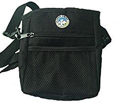 Jasper Swag Bag Mini Dog Treat Bag for Dog Walking & Training, Shoulder Strap and Waist Strap Included, Built in Poop Bag Dispenser