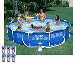 Intex 12′ x 30″ Metal Frame Set Swimming Pool w/ 530 GPH Pump & Filters |28211EH