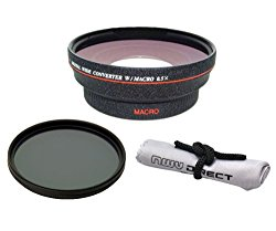 Leica V-LUX (Typ 114) HD (High Definition) 0.5x Wide Angle Lens With Macro + 82mm Circular Polarizing Filter + Nw Direct Micro Fiber Cleaning Cloth
