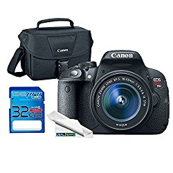 Canon EOS Rebel T5i DSLR Camera with 18-55mm Lens + Canon 100ES Case + 32GB SD Card