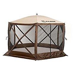 Clam Corporation 9879 Quick-Set Escape Shelter, 140 x 140-Inch, Brown/Beige