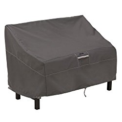 Classic Accessories Ravenna Patio Bench Cover – Premium Outdoor Furniture Cover with Durable and Water Resistant Fabric, Taupe (55-164-015101-EC)