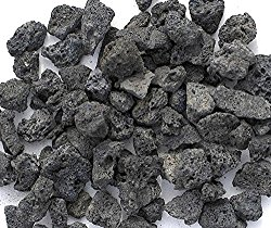 Black Lava Rock Nuggets For Gas Fire Pit