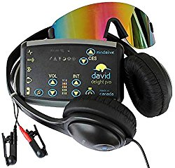 DAVID Delight Pro with Multi-Color Eyeset | Best device for Brain Training, Meditation, Relaxation, Sleep, Mood, Mental Clarity. Increased Academic and Sports Performance