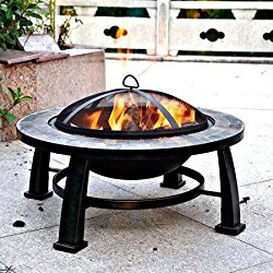 Dover 30″ Round Slate Fire Pit Table