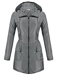 HOTOUCH Rainwear Active Outdoor Hoodie Cycling Running Windbreaker Jacket Gray XL