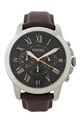 Fossil Fs4813p Grant Chronograph Brown Leather Watch Watch For Men