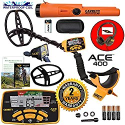Garrett ACE 400 Metal Detector with DD Waterproof Search Coil and Pro-Pointer AT