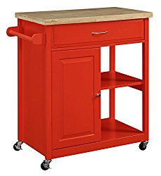 Oliver And Smith Nashville Collection Mobile Kitchen Island Cart White