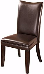Ashley Furniture Signature Design – Charrell Dining Upolstered Side Chair – Set of 2 – Medium Brown