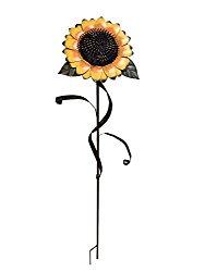 Y&K Decor Garden Sunflower Stake Metal Yard Decor 48″Tall