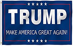 ANLEY [Fly Breeze] 3×5 Foot Donald Trump Flag – Vivid Color and UV Fade Resistant – Canvas Header and Double Stitched – The 45th U.S. President Flags Polyester with Brass Grommets 3 X 5 Ft