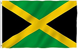 ANLEY [Fly Breeze] 3×5 Foot Jamaica Flag – Vivid Color and UV Fade Resistant – Canvas Header and Double Stitched – Jamaican National Flags Polyester with Brass Grommets 3 X 5 Ft