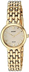 Seiko Women's 'Ladies Dress' Quartz Stainless Steel Casual Watch, Color:Gold-Toned (Model: SUP352)