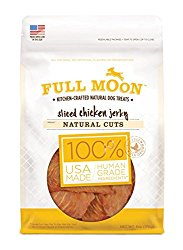 Full Moon All Natural Human Grade Dog Treats, Natural Cut Jerky, Sliced Chicken, 6 Ounce