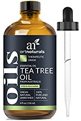 ArtNaturals Tea Tree Essential Oil – 4 Fl Oz – 100% Pure and Natural Premium Melaleuca – Therapetic Grade
