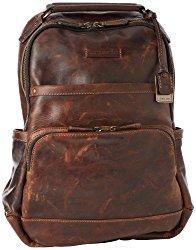 FRYE Men's Logan Antique Pull Up Backpack, Dark Brown, One Size
