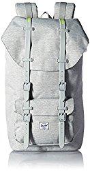 Herschel Supply Co. Little America Backpack, Light Grey Crosshatch/Light Grey Rubber/Acid Lime Insert
