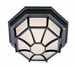 Trans Globe Lighting 40582 RT Outdoor Benkert 5″ Flushmount Lantern, Rust