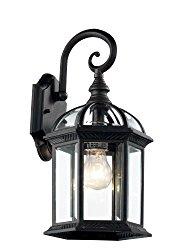 Trans Globe Lighting 4181 BK Outdoor Wentworth 15.75″ Wall Lantern, Black