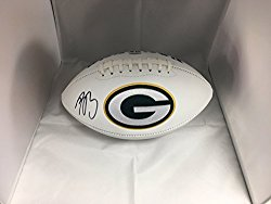 Aaron Rodgers Autographed Signed Green Bay Packers Logo Football COA & Hologram