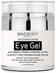 Baebody Eye Gel for Dark Circles, Puffiness, Wrinkles and Bags. – The Most Effective Anti-Aging Eye Gel for Under and Around Eyes. – 1.7 fl oz