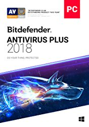Bitdefender Antivirus Plus 2018 | 1 PC, 1 Year | Download [Online Code]