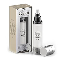 Calily Life Hyaluronic Acid Eye Gel + Vitamin E with Dead Sea Minerals, 1 Oz. – Deep Penetration Formula – Anti-Wrinkle and Anti-Aging – Minimizes Fine Lines, Puffiness and Dark Circles