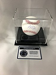 Javier Baez Autographed Signed Chicago Cubs MLB Baseball With Display Case Included COA & Hologram