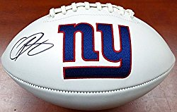 Odell Beckham Jr. Autographed New York Giants White Logo Football Beckett BAS
