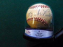 Stellar Babe Ruth Signed Baseball JSA Grade 9 Autograph – Authentic MLB Autograph