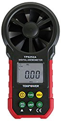 TekPower TP6252A Digital Anemometer Wind Speed Air Velocity Meter, Air Flow Meter, MS6252A,HYELEC 6252A