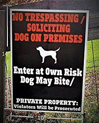 Beware of Dog Sign – World's ONLY LEGAL Beware of Dog Sign – 14 x 10 inch – MADE IN USA – Two Sided – Weatherproof – Long lasting Plastic Material – High Durability in Outdoor use