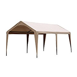 Abba Patio 10 x 20-Feet Outdoor Canopy with 6 Steel Legs, Brown
