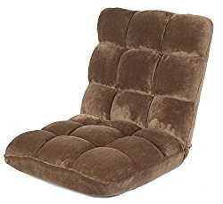BirdRock Home Adjustable 14-Position Memory Foam Floor Chair & Gaming Chair (Brown)
