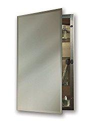 Jensen 1448X Bevel Mirror Medicine Cabinet, 16″ x 26″, Stainless Steel
