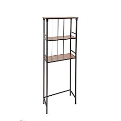 Silverwood Mixed Material Bathroom Collection 3-Tier Spacesaver 3, 66″ H, Oil Rubbed Bronze