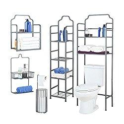 Tidy Living – 5 Piece Bathroom Organizer Bundle