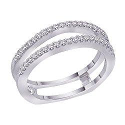 Diamond Ring Guard in 14K White Gold (1/3 cttw)