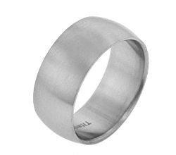 10mm Wide Mens Titanium Brushed Satin Wedding Band Ring(Sizes 8,9,10,11,12,13)