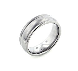 7mm Wide Mens Solid Titanium Classic Wedding Band Ring(Sizes 6,7,8,9,10,11,12,13,14)