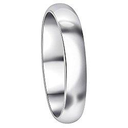 Gem Avenue 925 Sterling Silver 4mm Wedding Band