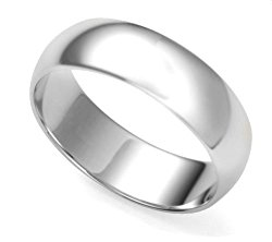 Solid Sterling Silver 7mm Wedding Band Ring(Sizes 5,6,7,8,9,10,11,12)